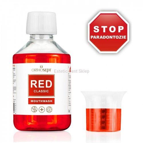 ORTHOSEPT RED Classic - Medyczny płyn do płukania jamy ustnej z chlorheksydyną 0,05%-0,20% - 200ml
