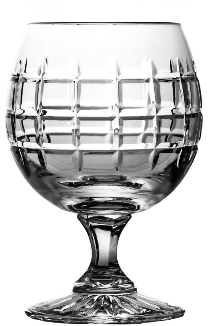 Kieliszki kryształowe do koniaku 6 sztuk symetric (09236)