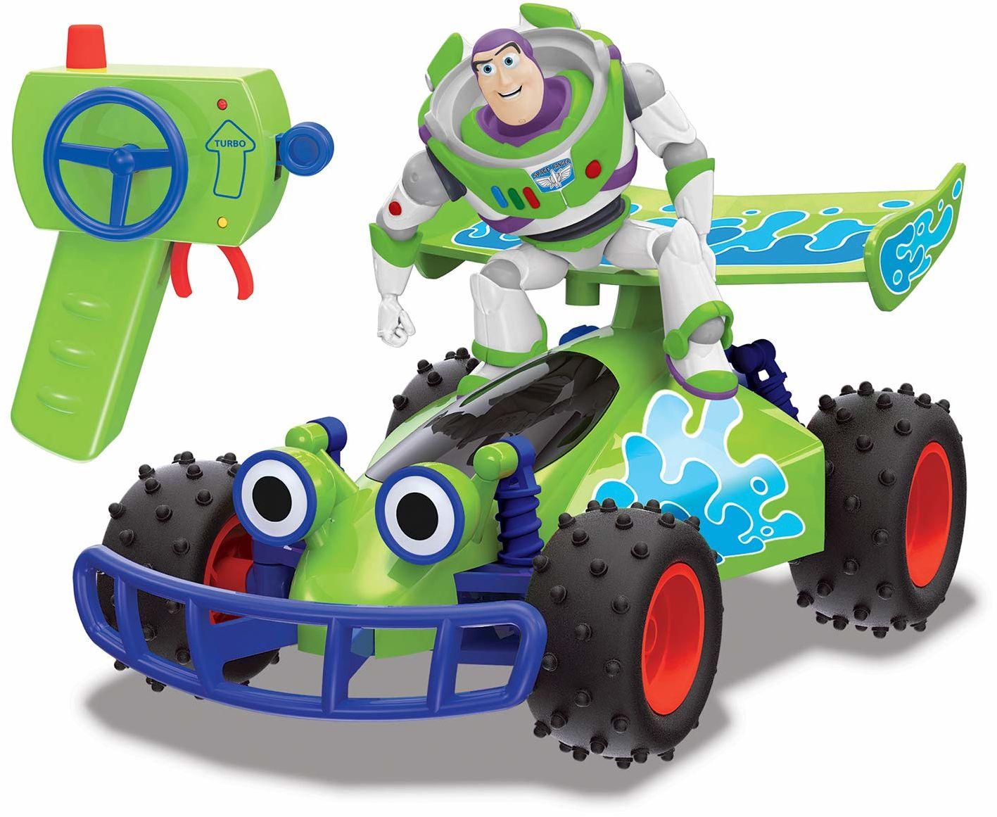 Dickie Toys RC Toy Story Buggy with Buzz, zdalnie sterowana zabawka Toy Story 4, pojazd zabawkowy z sterowaniem radiowym, dla dzieci od 4 lat