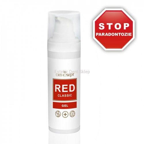 ORTHOSEPT RED Classic - Medyczny żel na paradontozę z chlorheksydyną 0,2% - 30ml