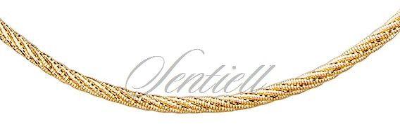Srebrny łańcuszek ozdobny pr.925 pozłacany - żółte złoto