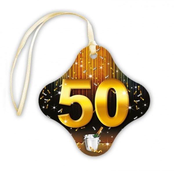 Zawieszki na butelki 50 urodziny 20 sztuk za404