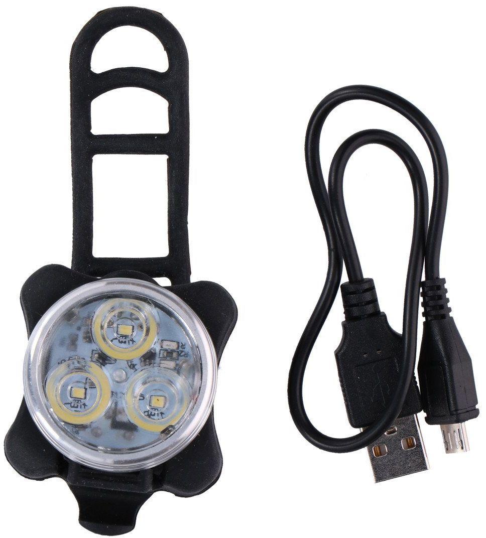Lampka rowerowa przednia na akumulator USB Dunlop