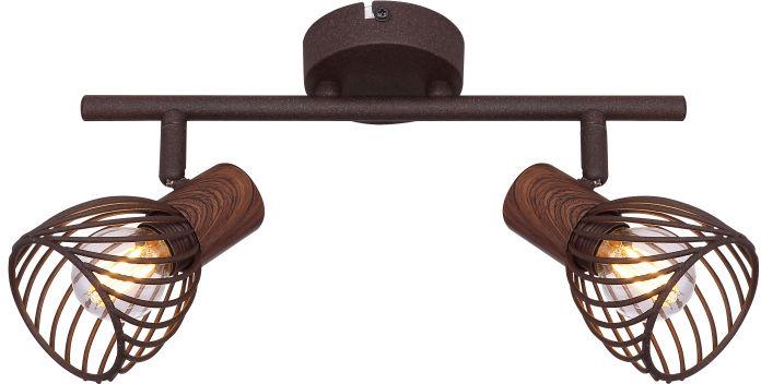 Globo ISABELLE 54817-2 rdzawy drewno brąz 2xE14 40W 30cm