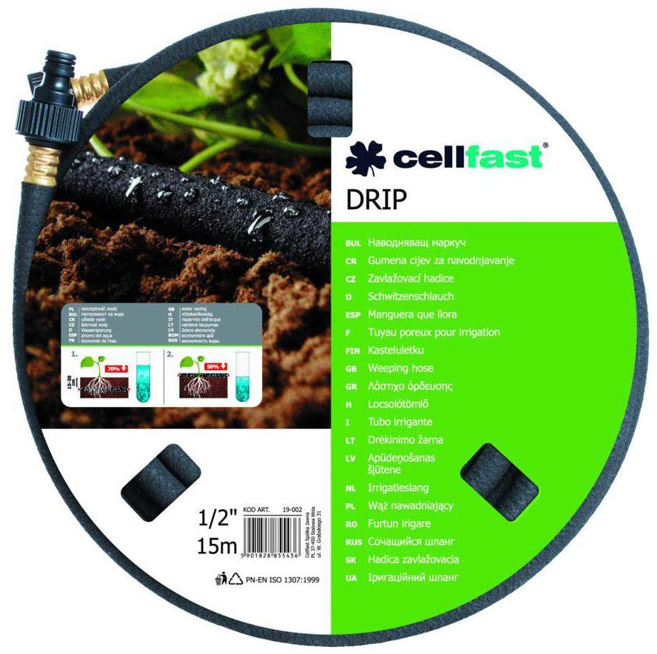 """Wąż ogrodowy DRIP 15 m x 12,5 mm (1/2"""") CELLFAST"""