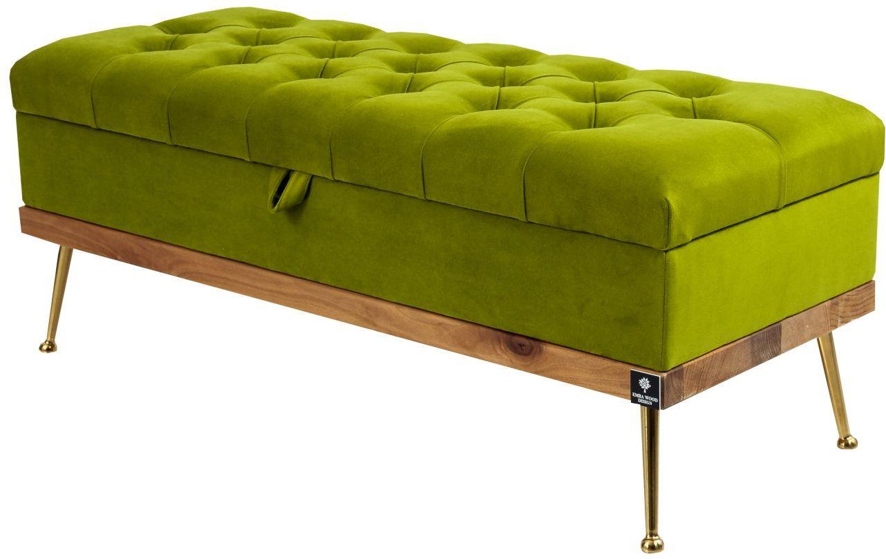 Kufer Pikowany CHESTERFIELD Zielony / Model QD-5 Rozmiary od 50 cm do 140 cm