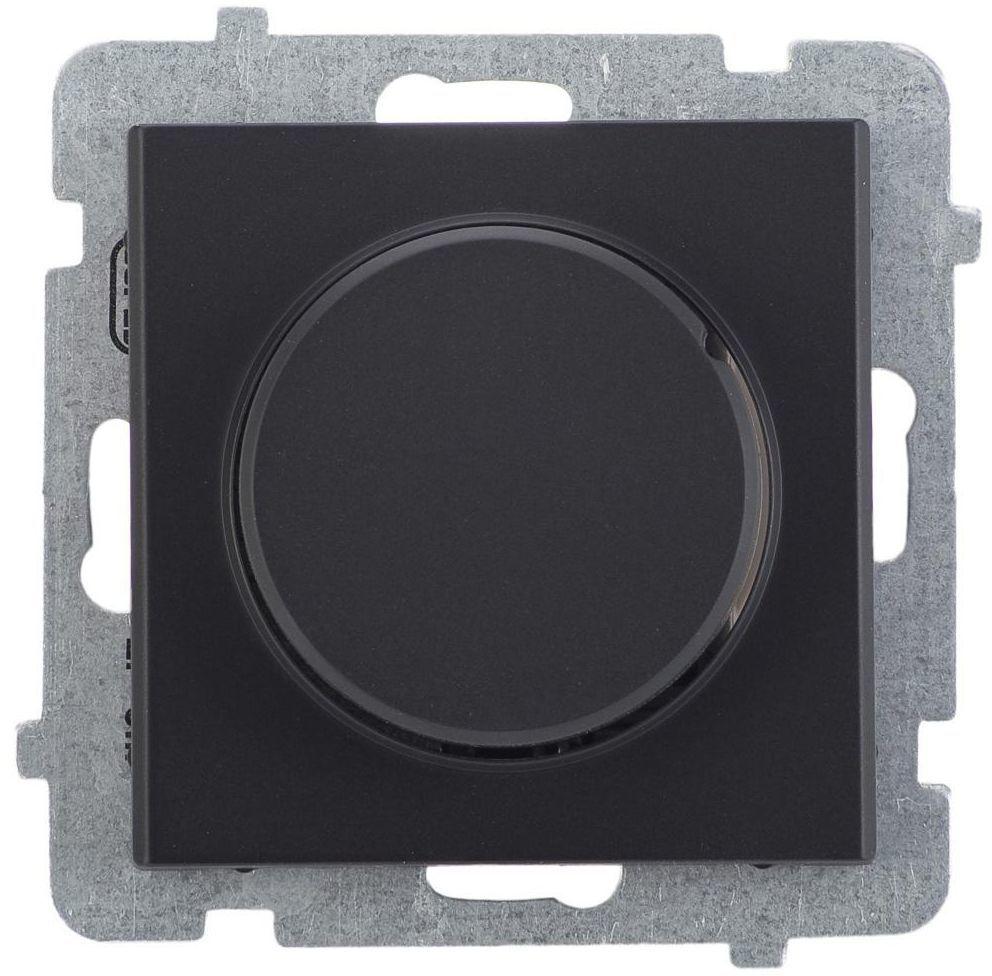 Ściemniacz przyciskowo-obrotowy SONATA Czarny OSPEL