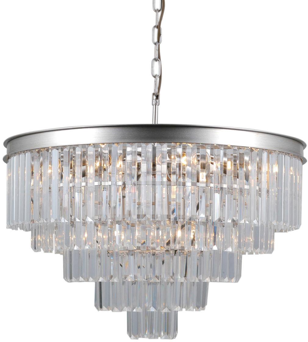 Lampa zwis VERDES PND-44372-11A-SLVR-BRW - Italux  SPRAWDŹ RABATY  5-10-15-20 % w koszyku