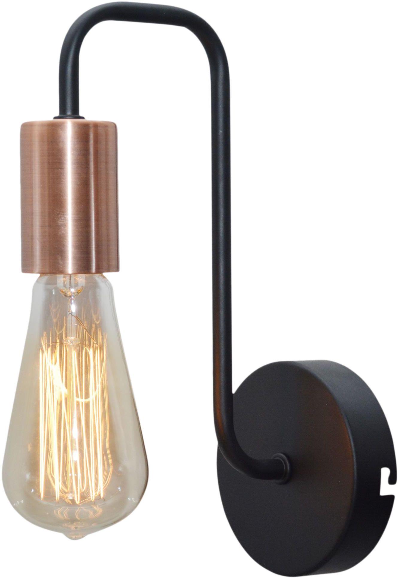 Candellux HERPE 21-66855 kinkiet lampa ścienna czarna 1X60W E27