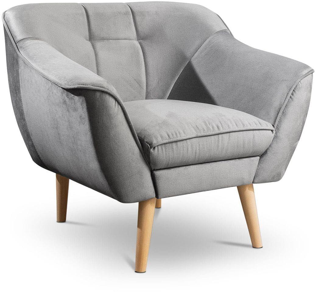 Fotel tapicerowany Cindy IV w stylu skandynawskim