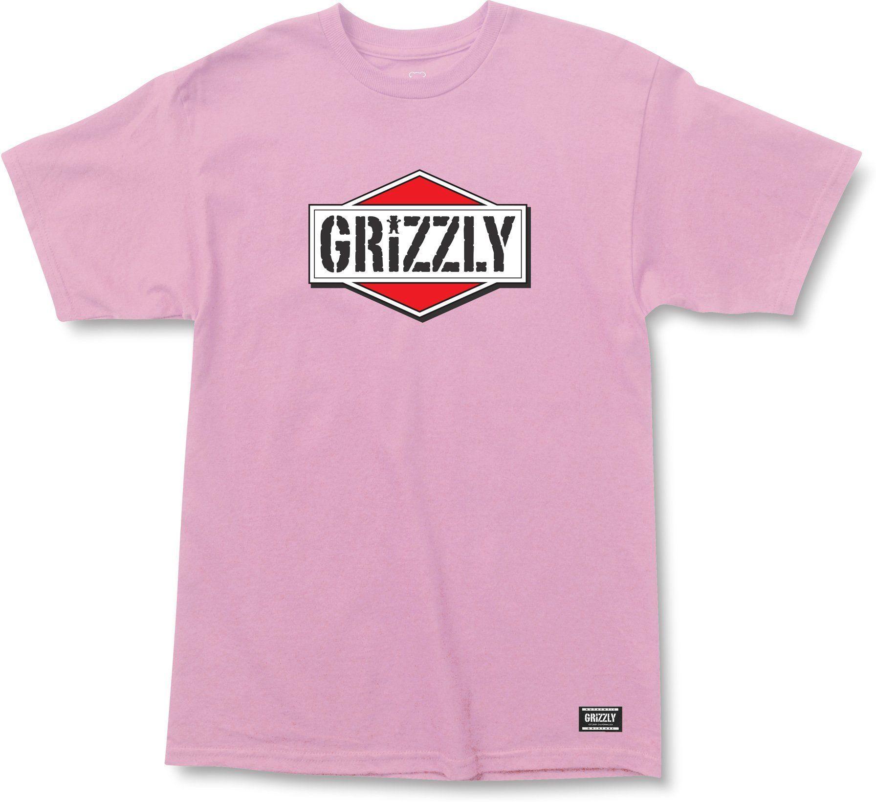 t-shirt męski GRIZZLY FAMILY OF GRIZ TEE Pink