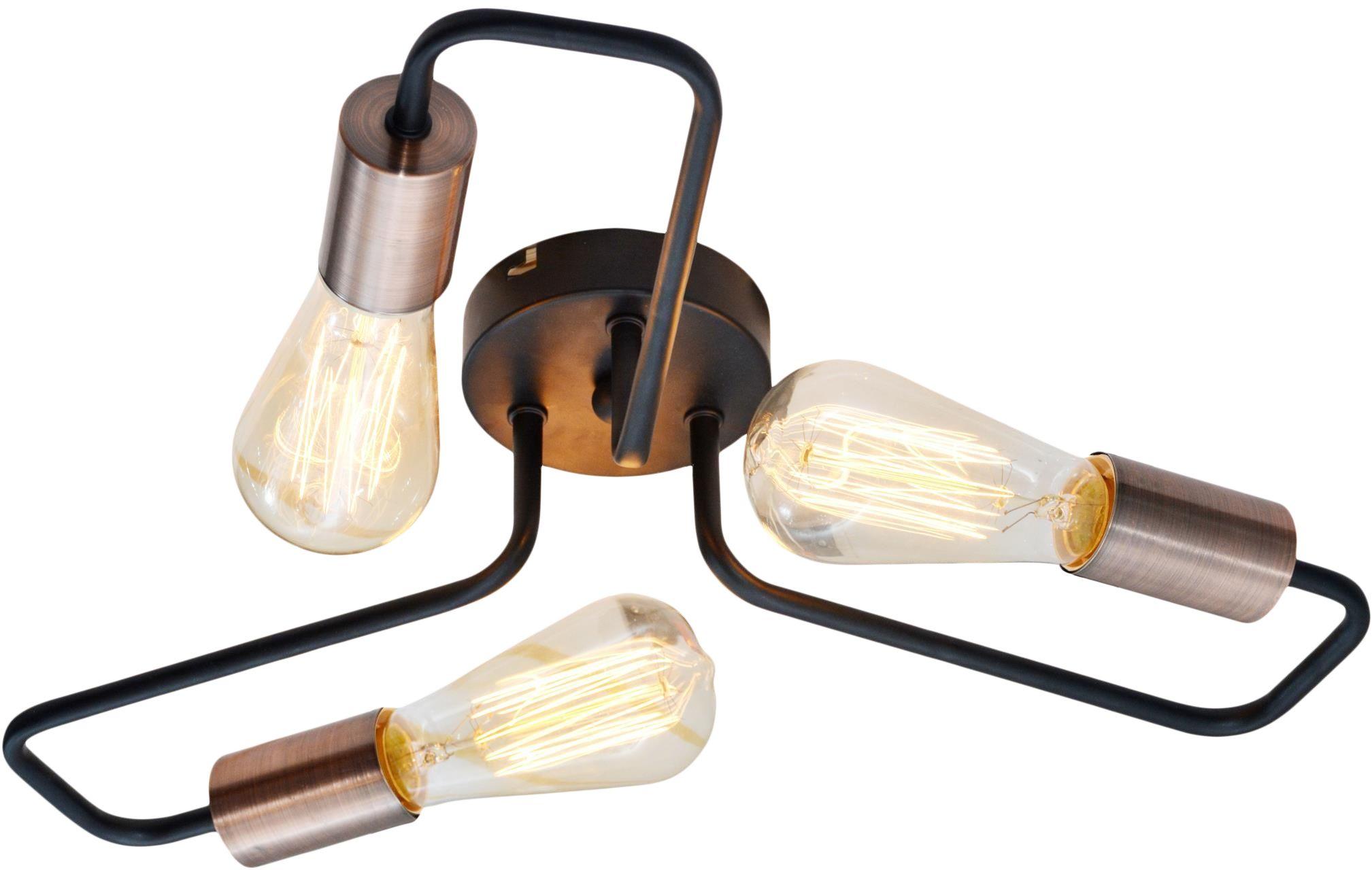 Candellux HERPE 33-66916 plafon lampa sufitowa czarna 3X60W E27 48cm