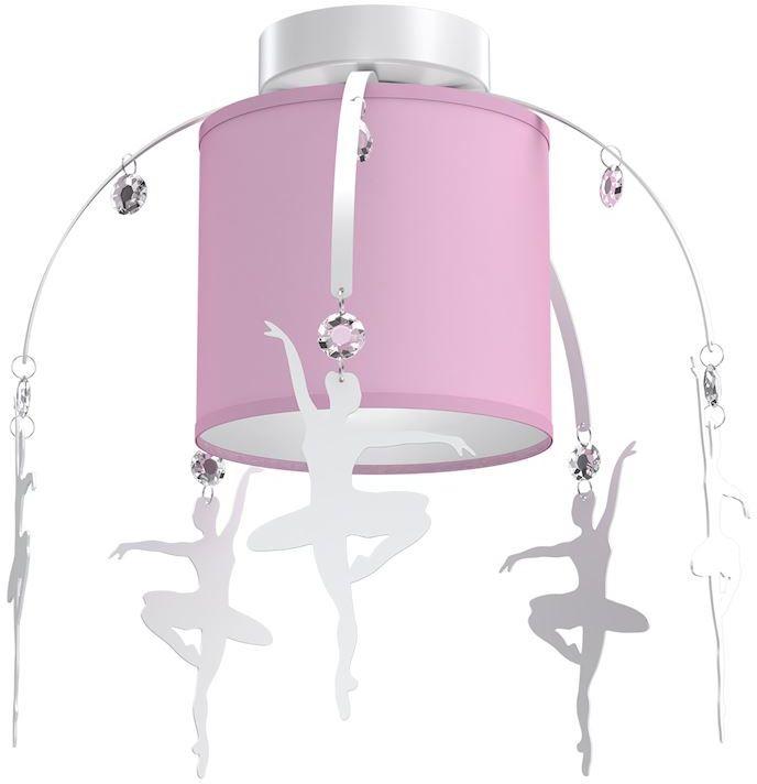 Milagro BALETNICA PINK MLP4972 plafon lampa sufitowa glamour abażur tkanina różowy kryształki baletnice 1xE27 35cm
