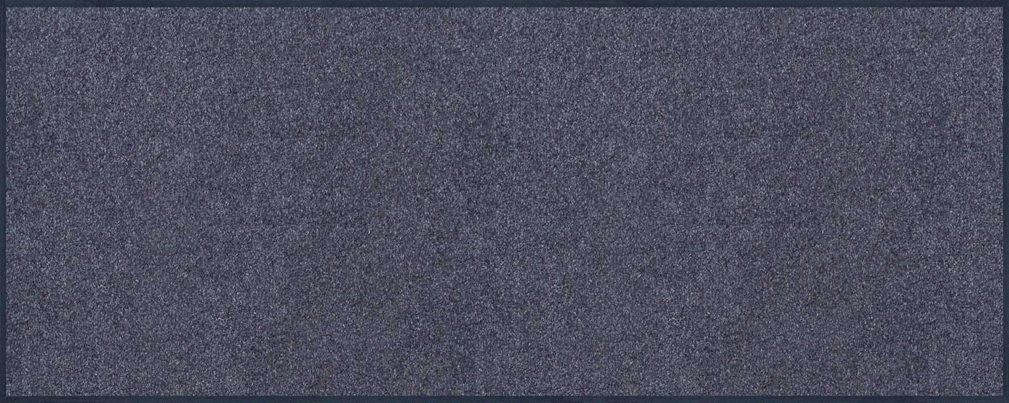 Mata drzwiowa stalowa niebieska 75 x 190 cm niebieska