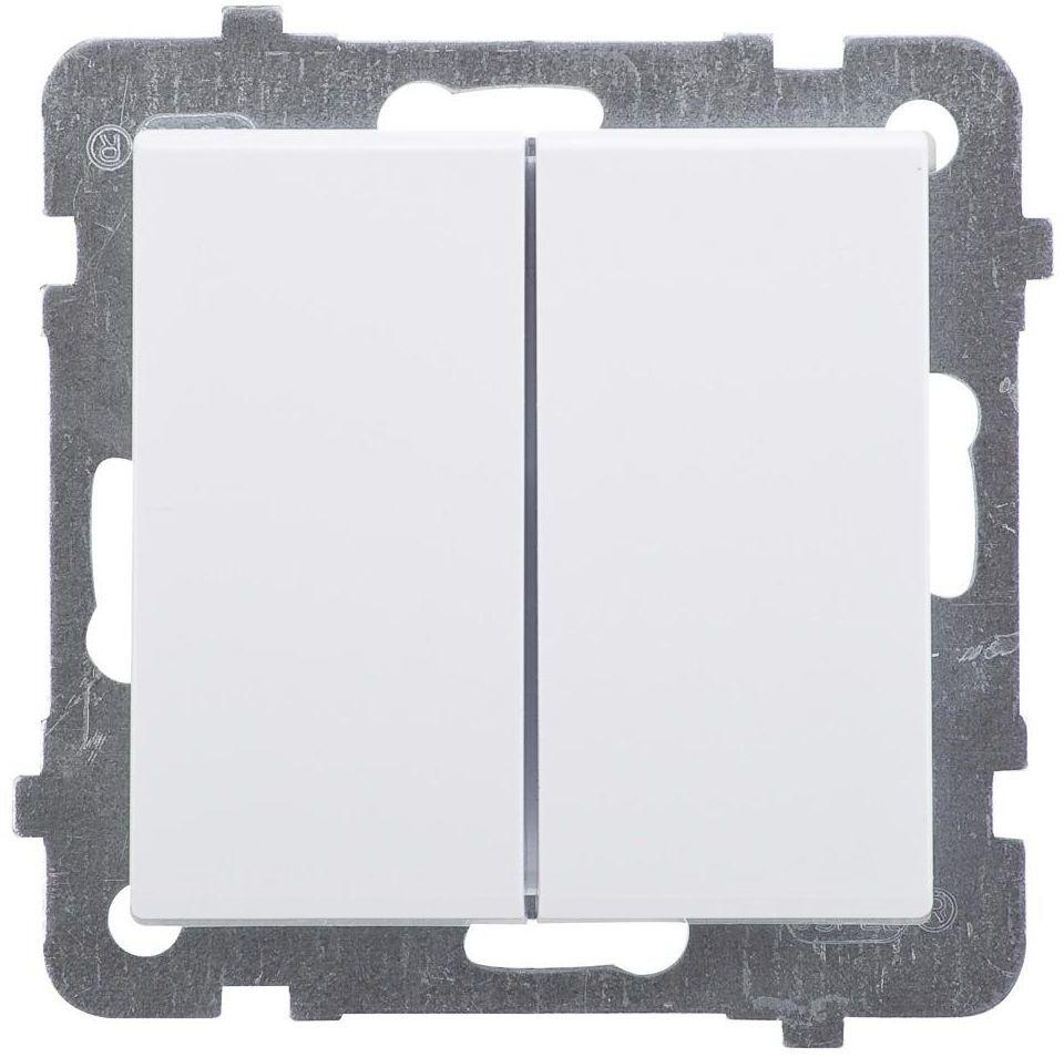 Włącznik podwójny PODWÓJNY SONATA Biały OSPEL