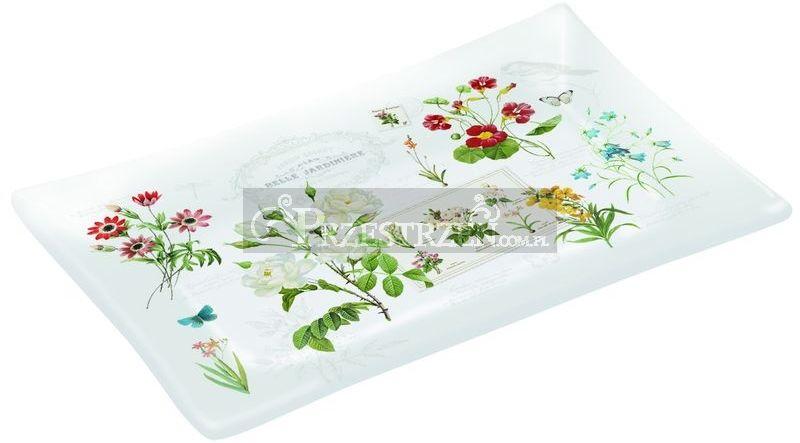 SZKLANY PÓŁMISEK DESEROWY - Natural - Kwiaty (248 NATU) - MAŁY
