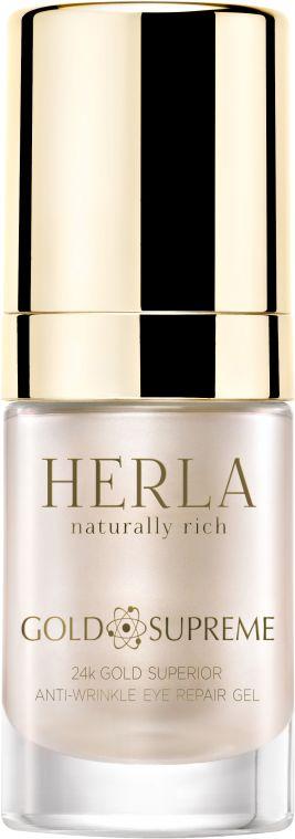 Herla Gold Supreme Przeciwzmarszczkowy żel do okolic oczu 15 ml