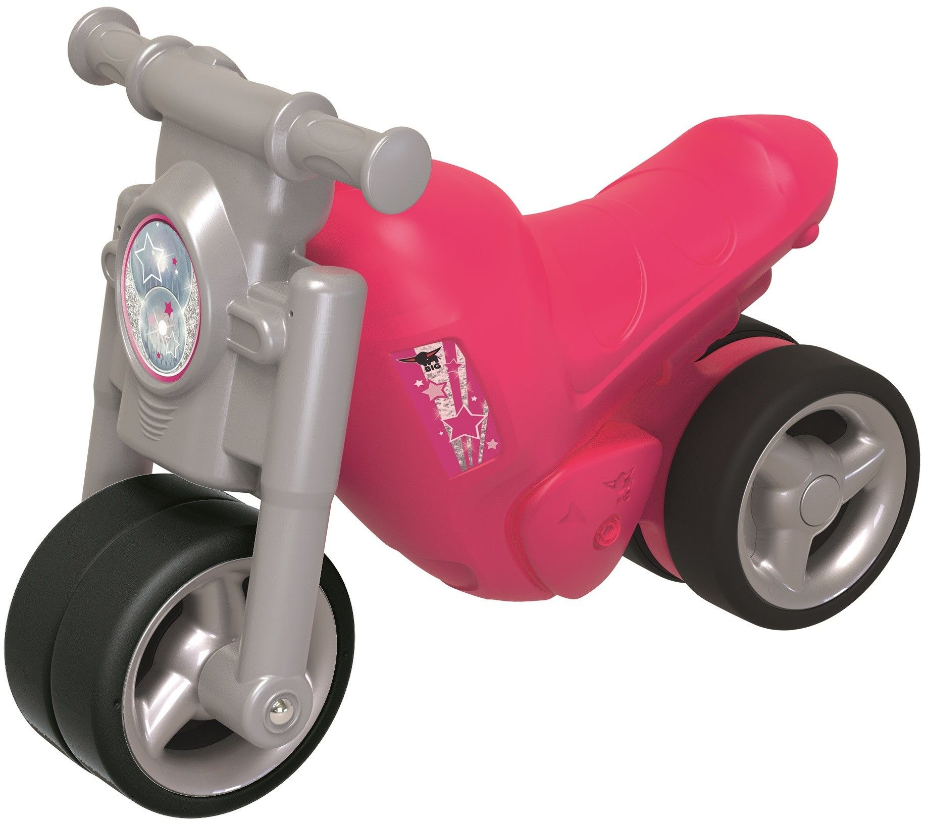 BIG Jeździk Motorek Girlie Różowy