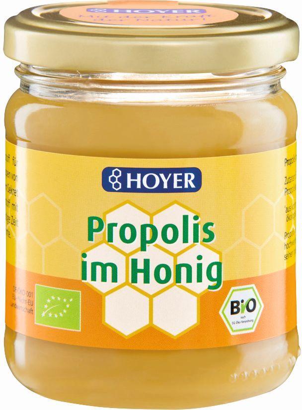 Miód z propolisem bio 250 g - hoyer
