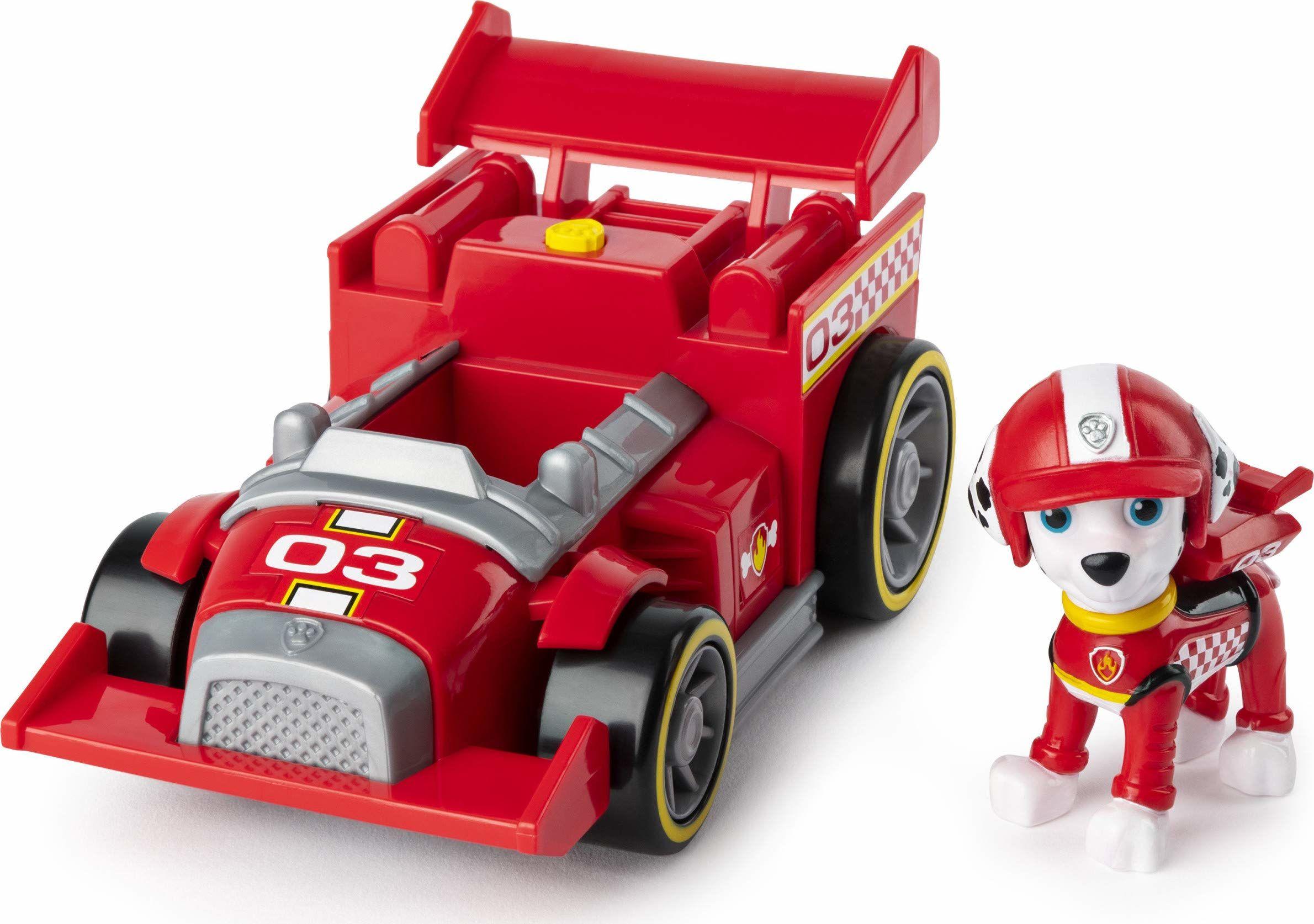 PAW Patrol Ready, Race, Rescue Marshall''s Race and Go Deluxe pojazd z dźwiękami, dla dzieci w wieku od 3 lat i powyżej
