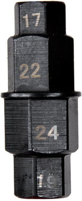 """Nasadka osi przedniego koła klucz 3/8"""" 17-24mm"""