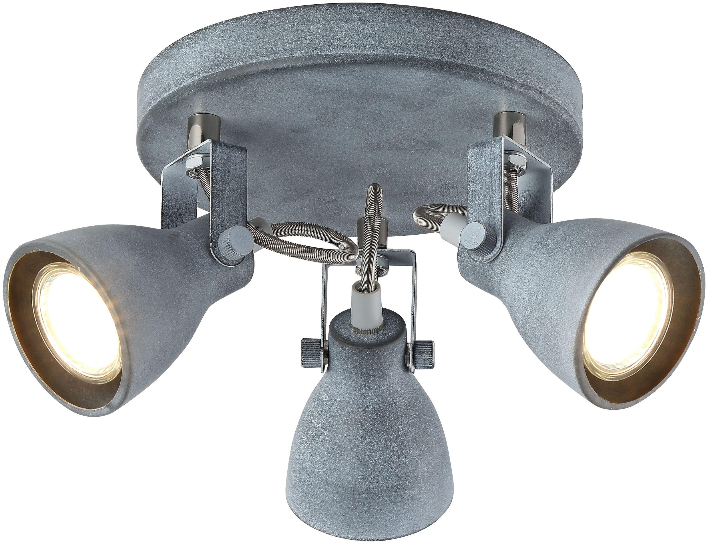 Candellux ASH 98-64325 plafon lampa sufitowa szary mat regulacja klosza 3X40W GU10 30cm