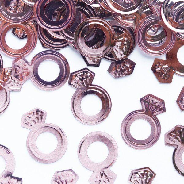 Konfetti na Wieczór Panieński pierścionki rose gold 15g 511564
