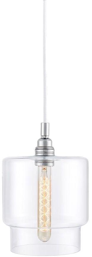 Lampa wisząca Longis IV 10551109 oprawa przezroczysta / przewód biały Kaspa