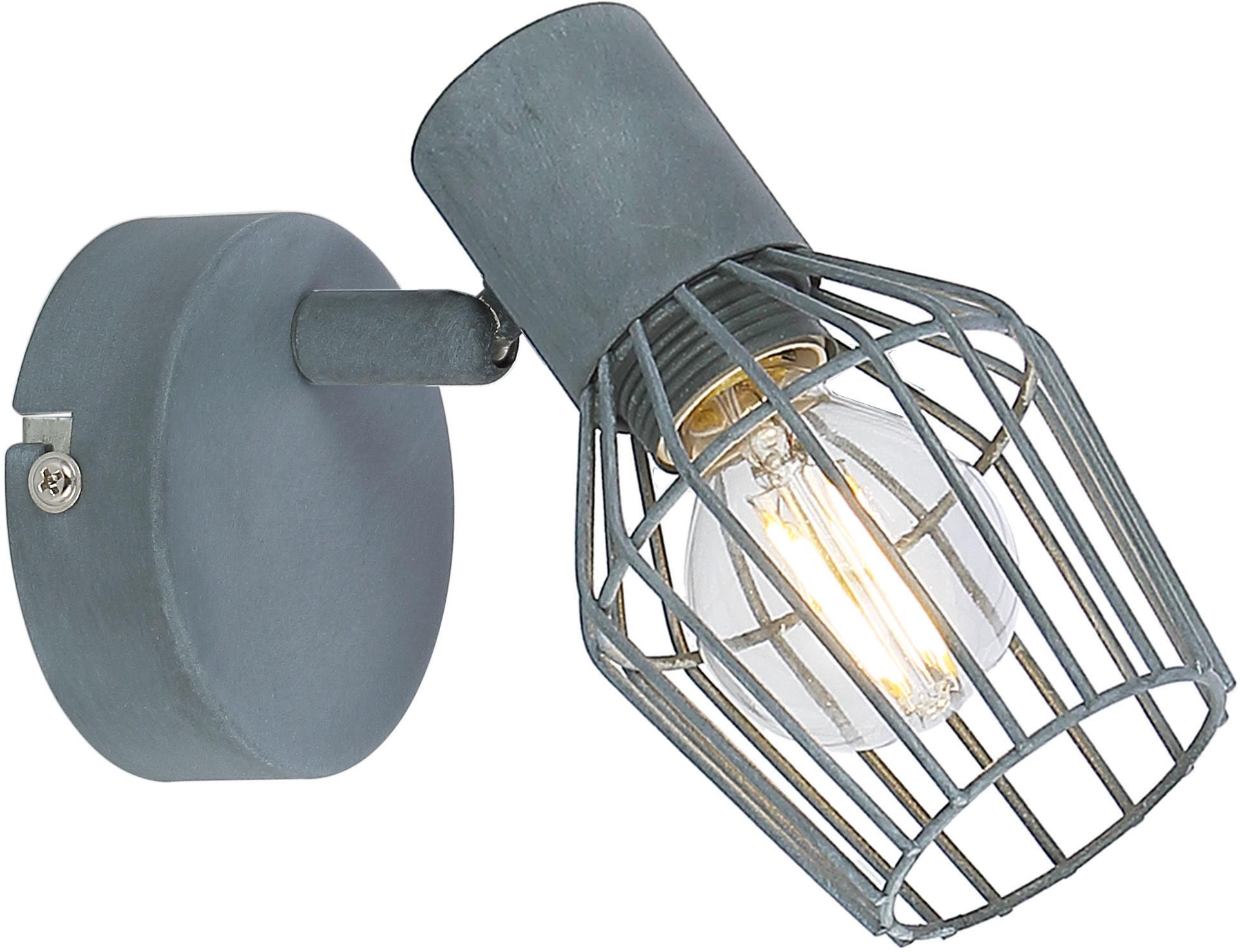 Candellux VIKING 91-68002 kinkiet lampa ścienna szary regulacja klosza 1X40W E14 7,5cm