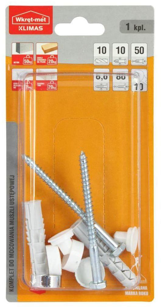 Zestaw kołków montażowych 10 x 80 mm WKRĘT-MET