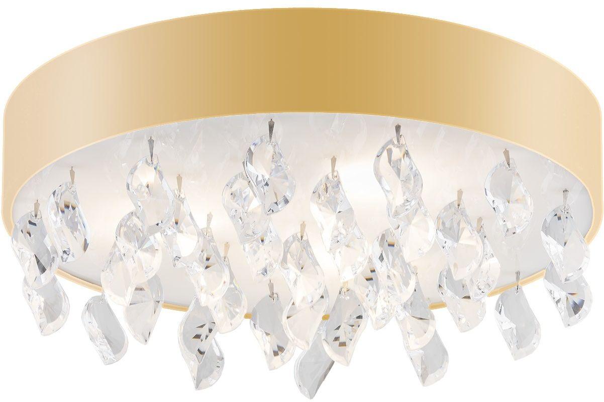 Plafon złoty z kryształkami Bella 1497 Argon // Rabaty w koszyku i darmowa dostawa od 299zł !