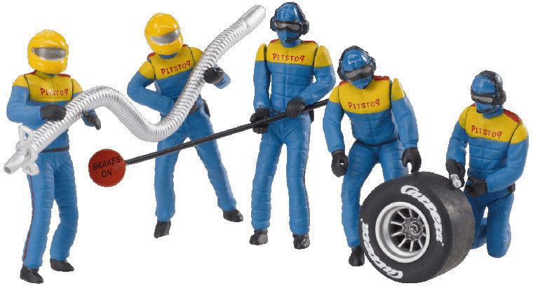 Carrera - Zestaw figur, mechanicy Carrera niebiescy 21132