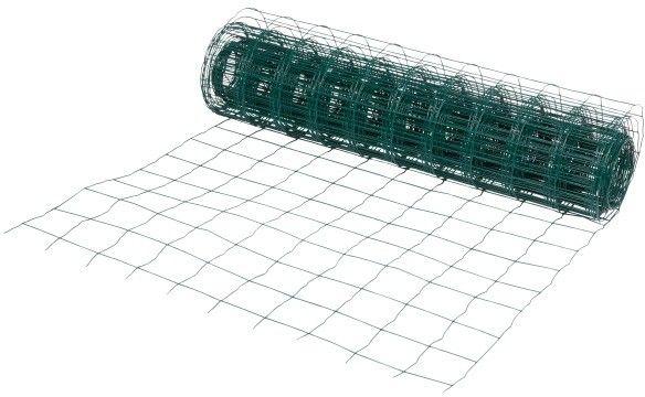 Siatka ogrodzeniowa zgrzewana 1 x 20 m oczko 100 x 100 mm zielona