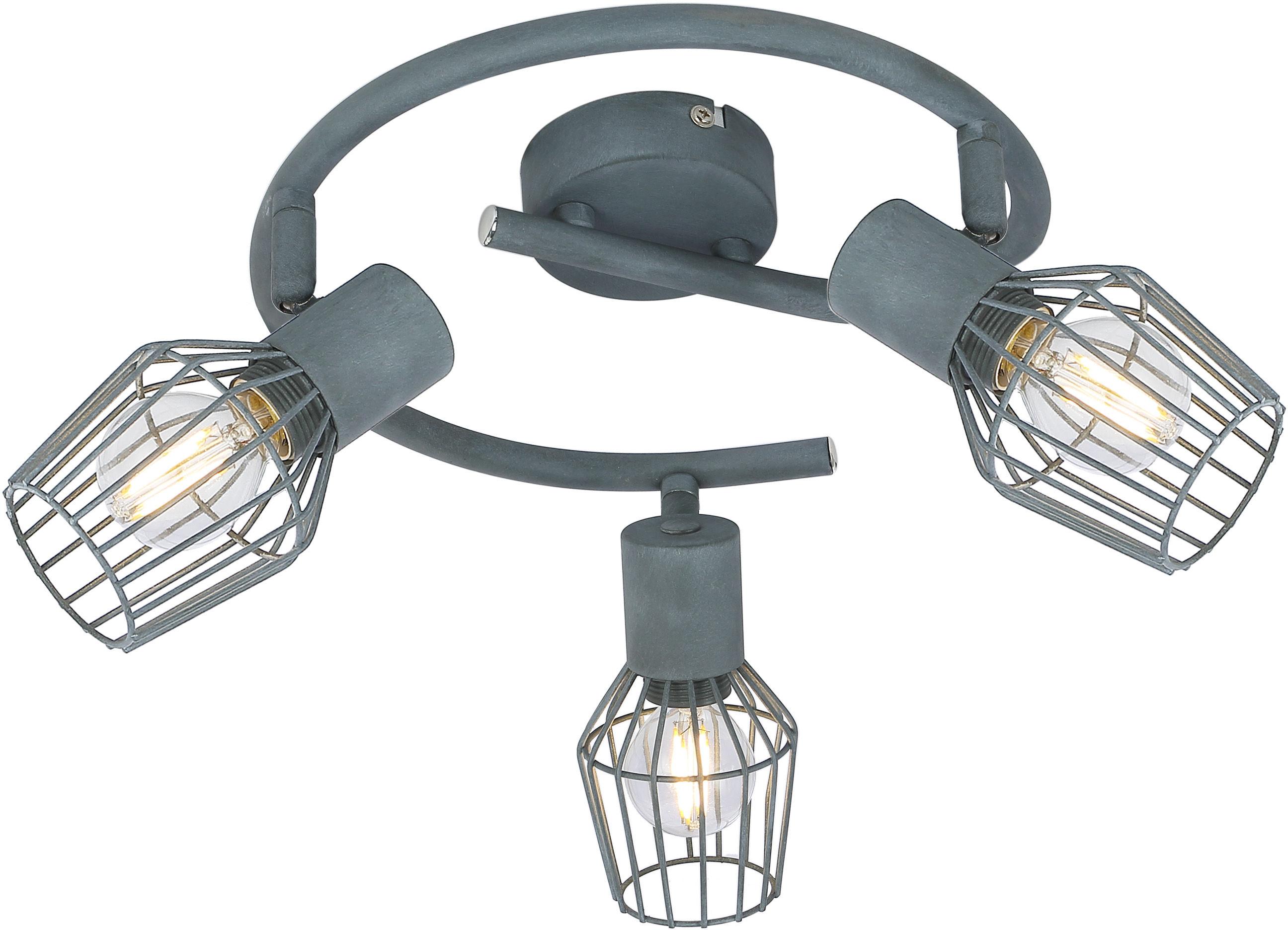 Candellux VIKING 98-68040 plafon lampa sufitowa spirala regulacja klosza szary 3X40W E14 43cm