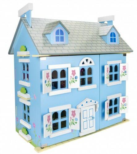 Willa Alpejska-kolory - domek dla lalek z wyposażeniem i laleczkami + oświetlenie LED