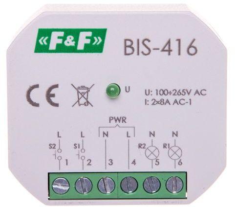 Przekaźnik impulsowy dwukanałowy 8A 2Z 230V AC BIS-416