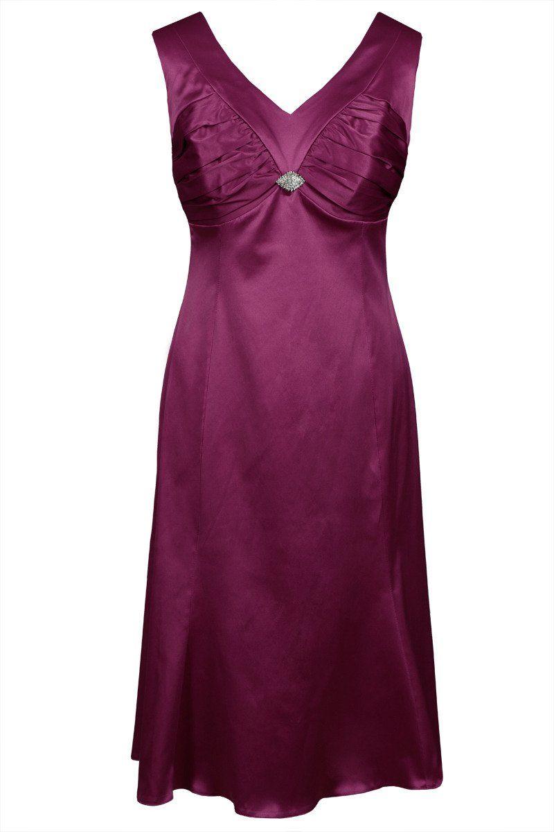 Sukienka FSU659 AMARANT ŚREDNI