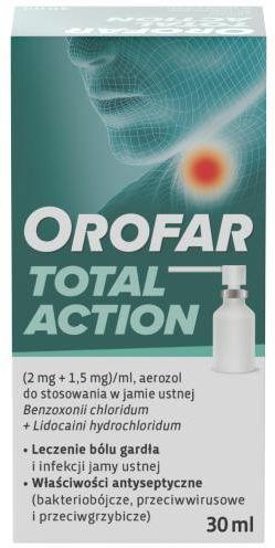 Orofar aerozol na ból gardła - 30 ml