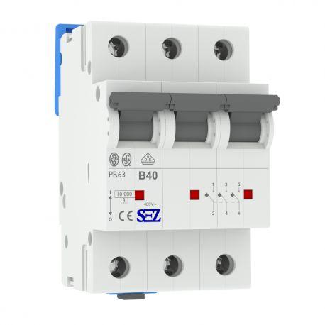 B40A 3P 10kA Wyłącznik nadprądowy bezpiecznik Typ S eska PR63 SEZ 0630