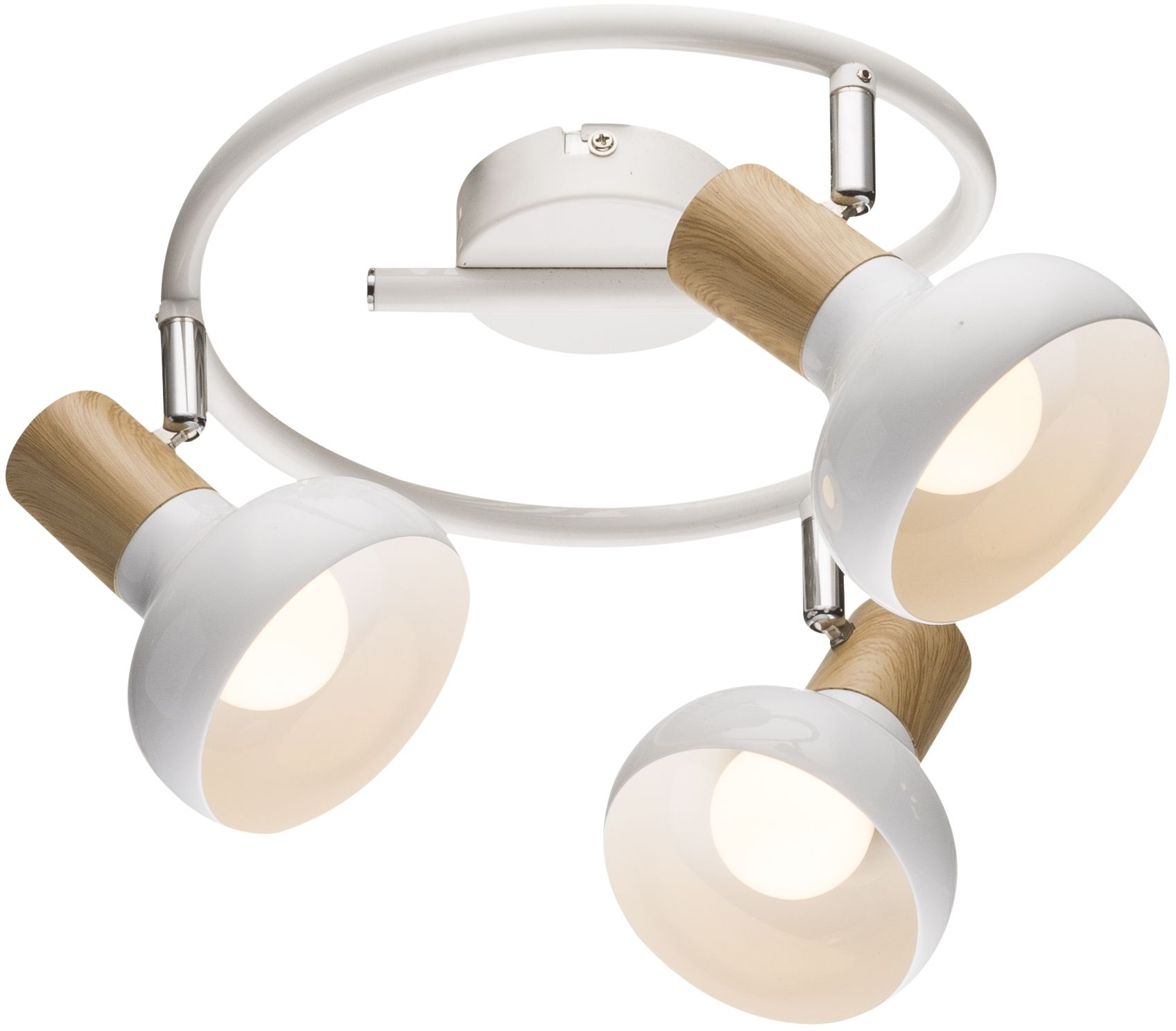 Candellux PUERTO 98-62697 plafon lampa sufitowa spirala biała drewno 3X40W E14 40cm