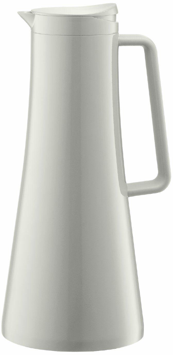 Bodum BISTRO termos (izolowany, mechanizm przyciskowy, pojemność 1,1 litra), kolor kremowy