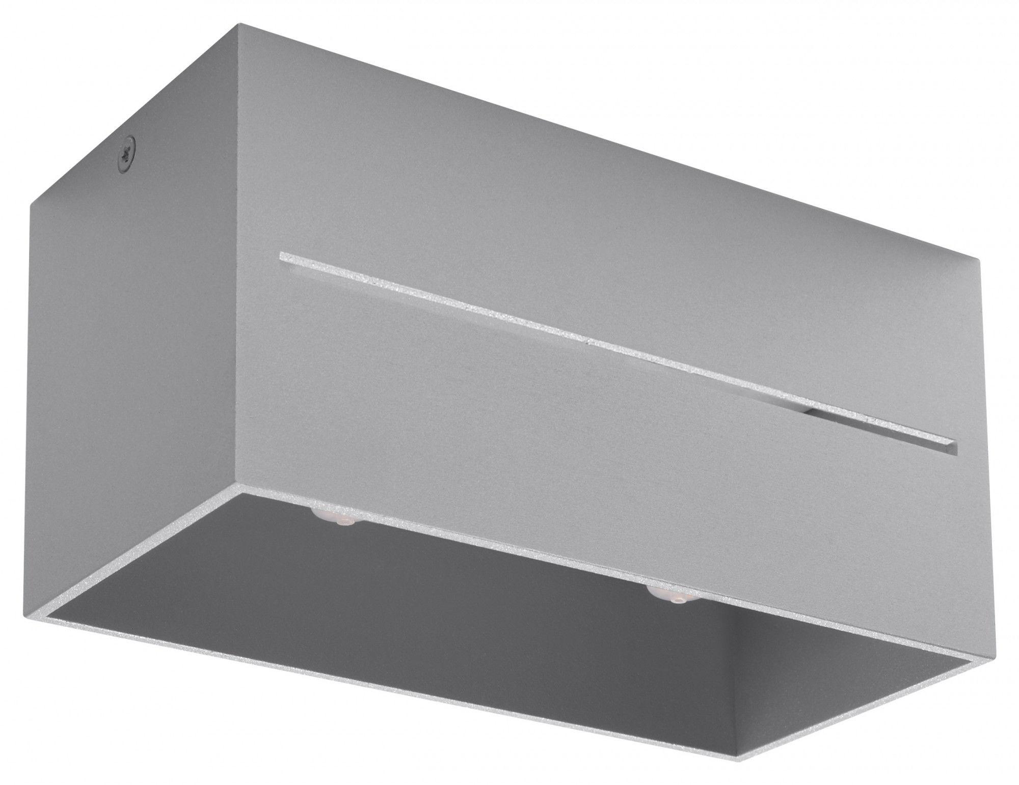 Szary prostokątny plafon LED - EX510-Lobi