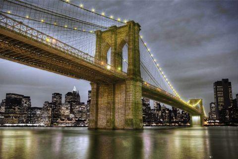 Nowy jork brooklyn bridge - plakat