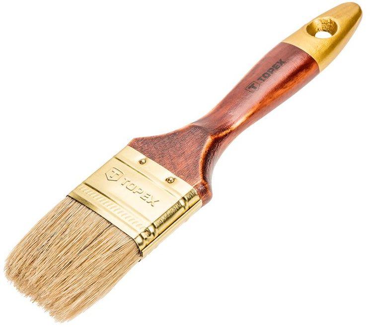Pędzel płaski uniwersalny 2.5cala włosie naturalne skuwka stalowa 19B625