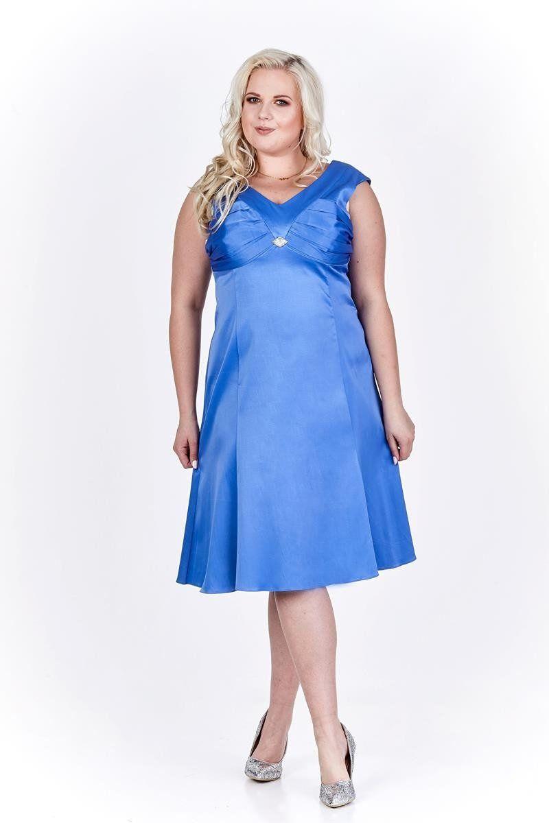 Sukienka FSU659 CHABROWY JASNY