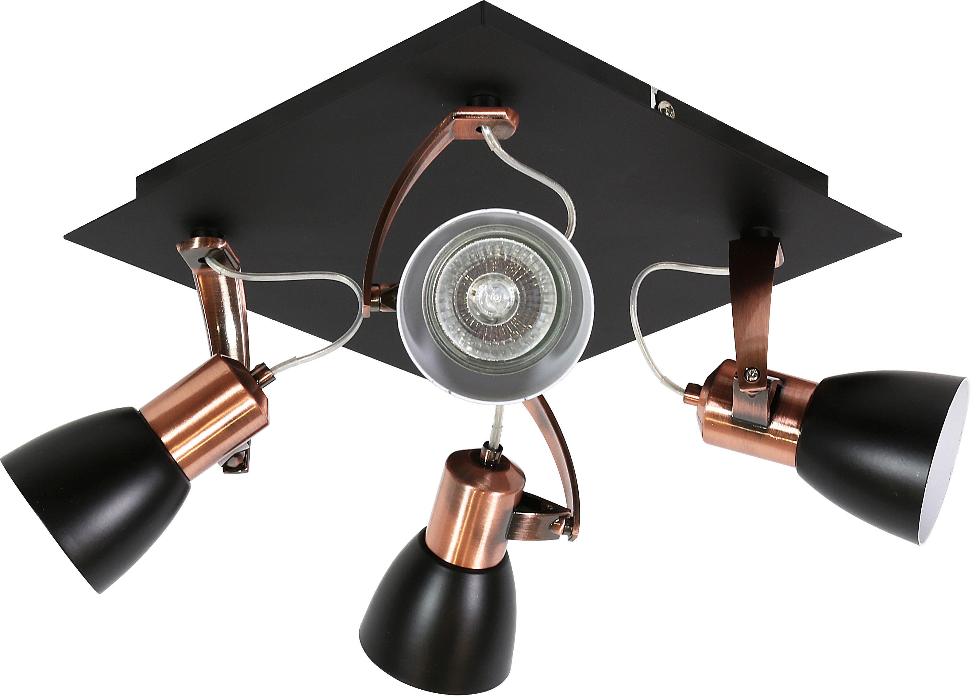 Candellux MARKUS 98-35639-M plafon lampa sufitowa czarny+miedziany regulacja klosza 4X50W GU10 30cm