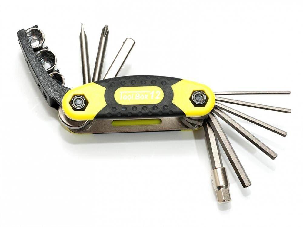 Zestaw narzędzi/ kluczy (scyzoryk) Author Toolbox 12 12 w 1 żółto-czarno-srebrne