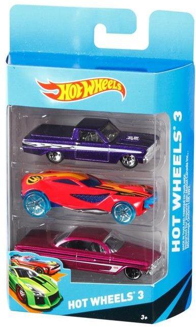 Mattel Hot Wheels Trzypak samochodzików K5904