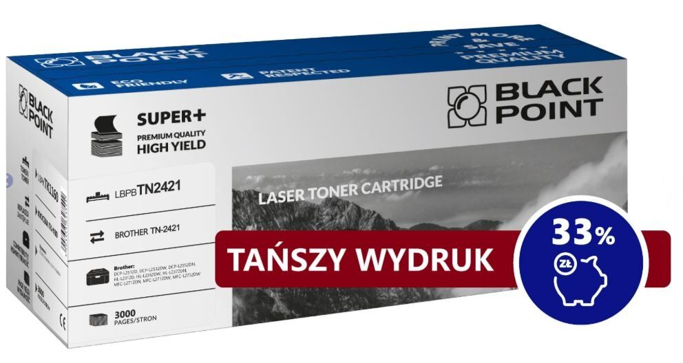 Brother TN-2421 BLACK POINT Toner monochromatyczny