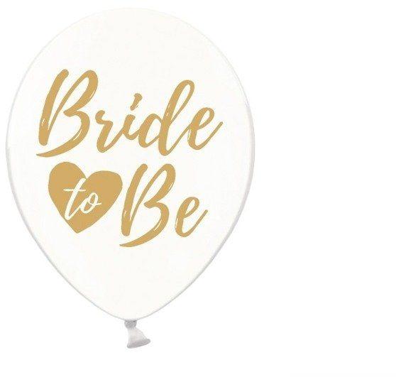 Balony Bride to be złoty nadruk 50 sztuk SB14C-205-099G-50x